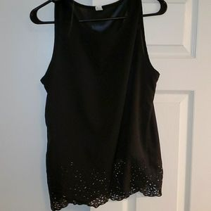 FREE WITH PURCHASE Black Sleevless Blouse